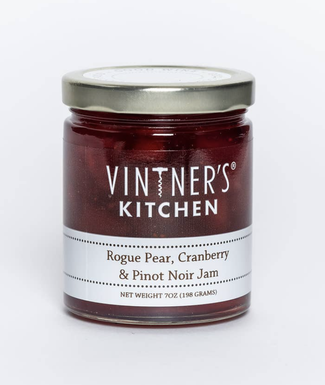 Rogue Pear, Cranberry, and Pinot Noir Jam